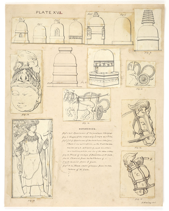 Sanchi. Small miscellaneous drawings.